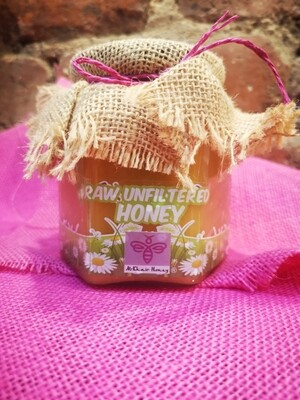 Unfiltered Raw Honey, 500g Glass Jar