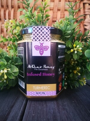 Infused Honey, Turmeric, 370g Glass Jar