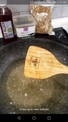 Wooden  Engraved Spatula