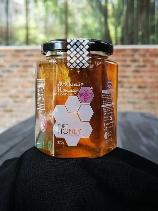 Honeycomb in Glass Jar