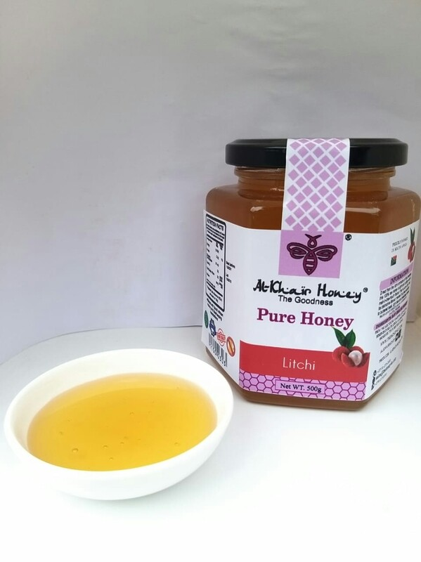 Pure Honey, Litchi, 370g Glass Jar