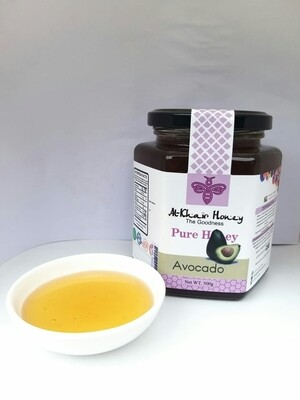 Pure Honey, Avocado Blossom 500g Glass Jar