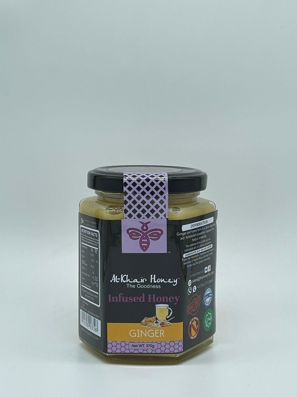 Infused Honey, Ginger, 370g Glass Jar
