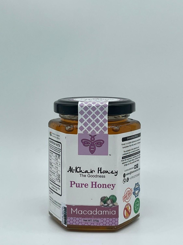 Pure Honey, Macadamia 370g Glass Jar