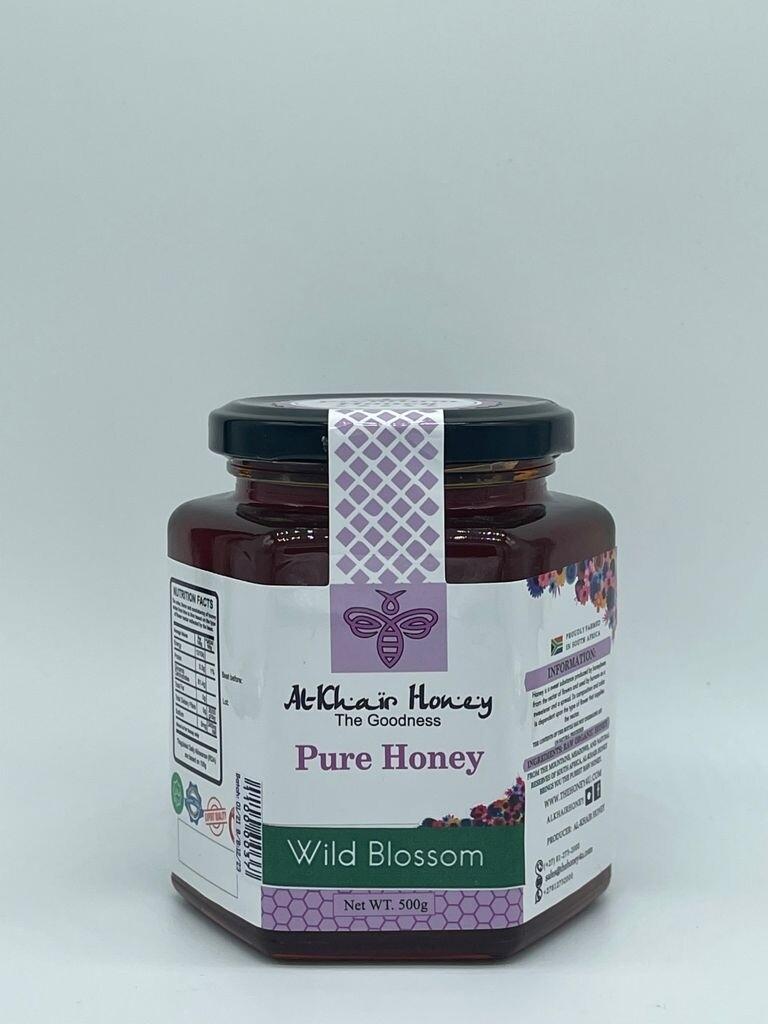 Pure Honey, Wild Blossom, 500g Glass Jar