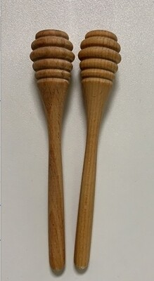 Honey Dipper, Handcrafted, Olive Wood, 2 Pack