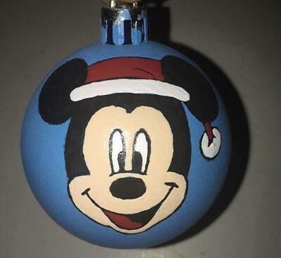 minnie & mickey ornaments
