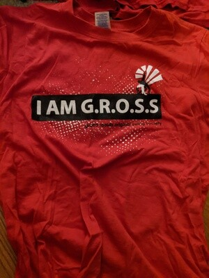 """""""I am Gross"""" Red t-shirt. Adult Small"""