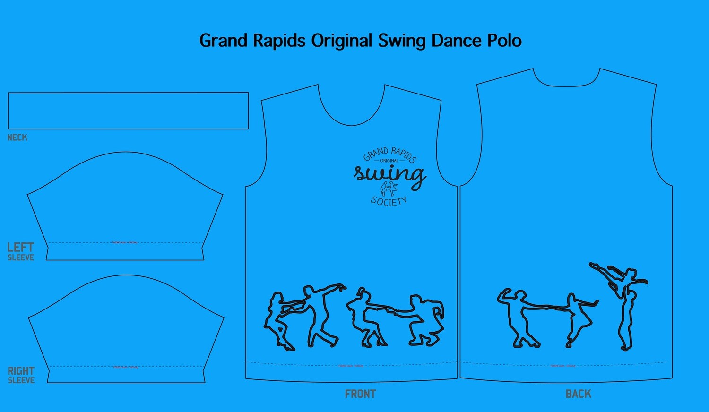 Swing Dance Polo Shirt! ANY SIZE!