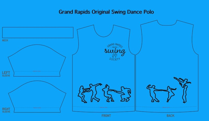 Swing Dance Polo Shirt! ANY SIZE!