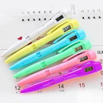 Ручка с часами