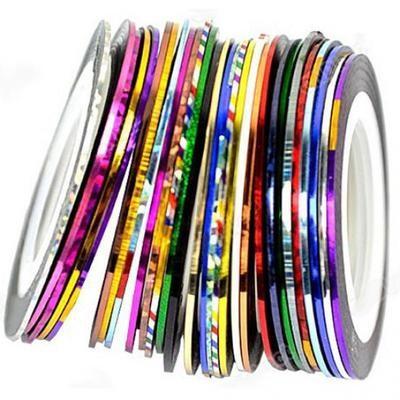 Декоративная лента для декора ногтей 10 цветов / 20 м
