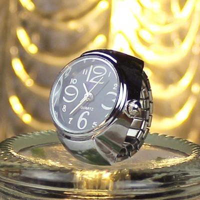 Кварцевые часы-кольцо из нержавеющей стали