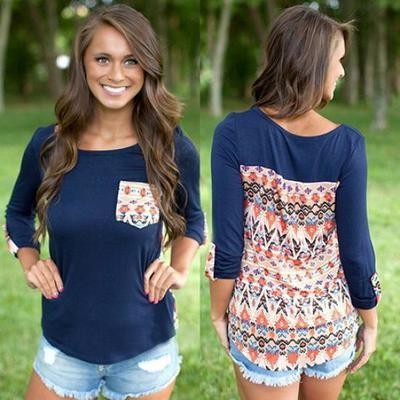 Мода женщин круглый шею с длинным рукавом повседневный Loose Tops блузка длинная футболка