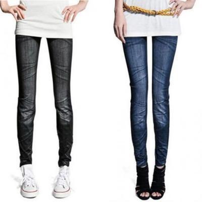 Женские узкие джинсы-леггинсы