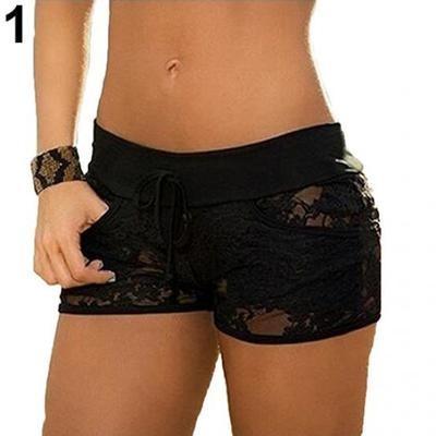 Женские летние прозрачные кружевные шорты