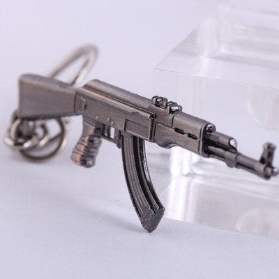 Металлический брелок для ключей - AK 47 (6 см)