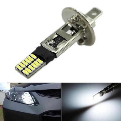 Автомобильная светодиодная противотуманная лампа H1 6500K 12V 24-SMD
