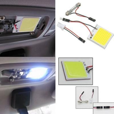 Автомобильная светодиодная лампа 48 SMD COB LED T10 4W 12V (Белый)