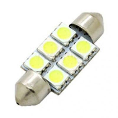 Купольная светодиодная лампа для автомобилей 36мм 5050 SMD 6LEDs