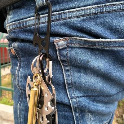 Многофункциональный карабин с открывалкой бутылки, гаечным ключом, отверткой