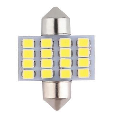 Автомобильная светодиодная лампа в салон 16SMD LED DC 12V, белая