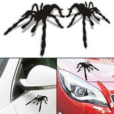 3D автомобильные наклейки паук с тенью 1 пара