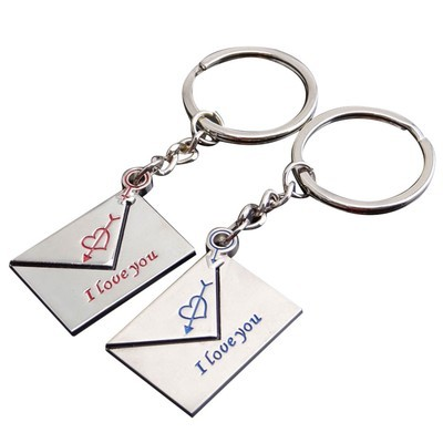 Брелок для ключей для пар в форме конверта