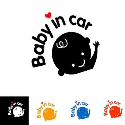 Наклейка для автомобиля (ребенок в машине)