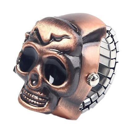 Часы кольцо в форме черепа