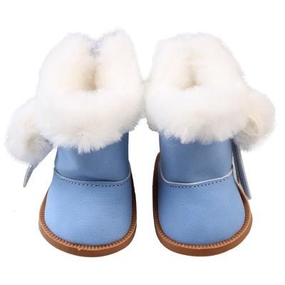 Плюшевые зимние сапоги для 18-дюймовых американских кукол для девочек