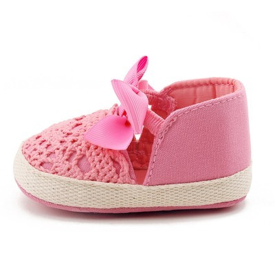 Весенняя мягкая девушка Baby First Walker Fashion Shoes Butterfly-Knot Shoes WH / 11