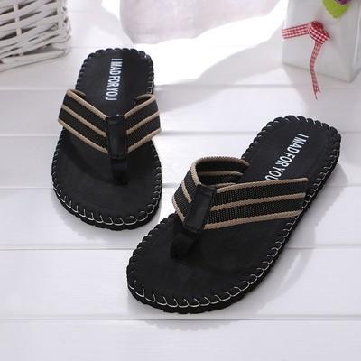 Летние открытые сандалии-сланцы для мужчин (чёрные).