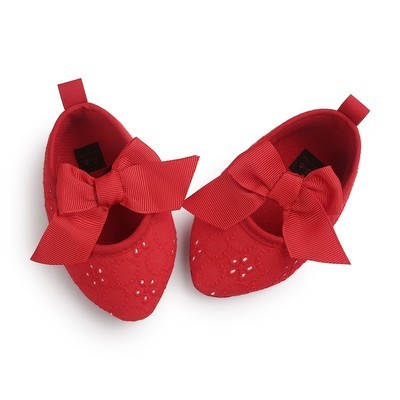 Baby Girls Bowknot Soft Sole Princess Обувь Мягкая обувь Обувь Обувь