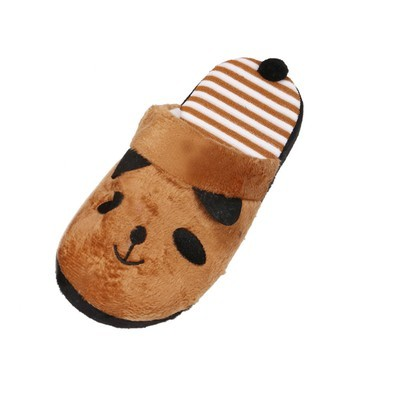 Lovely Cartoon Panda Home Floor Soft Stripe Silverippers Женская обувь Кофе 36
