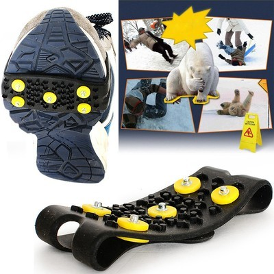 Нескользящие снегоступы Противоскользящие бахилы Шипованная шиповка для обуви на шипах