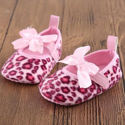 Baby Girls Leopard Bowknot Soft Sole Shoe Мягкая обувь
