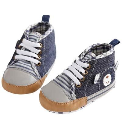 Baby Denim High Cut Обувь для обуви Кроссовки Anti-slip Soft Sole Toddler