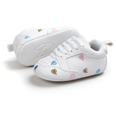 Детские вышивки Love Shape Bandage Мягкие подошвы Обувь Малыши Кроссовки Повседневная обувь