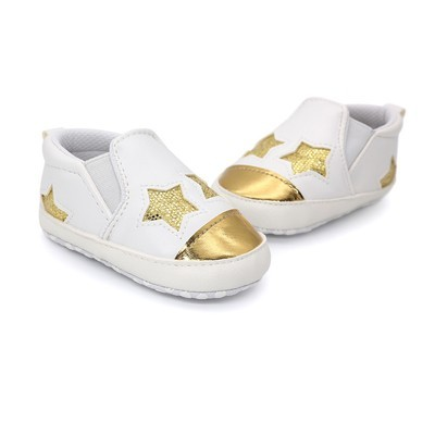 Baby Girl Boys Пятиконечная звезда Письмо обувь Кроссовки Anti-Slip Shoes