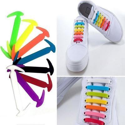 Силиконовые шнурки для обуви 12 шт