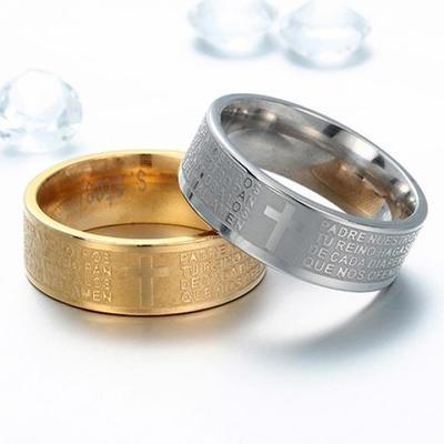 Мужское кольцо с тиснением