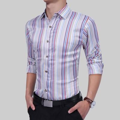Рубашка с длинным рукавом (полоска)