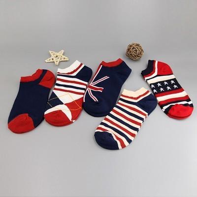 5 пар спортивные носки Хлопчатобумажные носки Модные носки