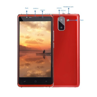 Rusiasmall 5.0''Ultrathin Android 6.0 Quad-Core 1GB + 4GB GSM 3G WiFi Dual Smartphone