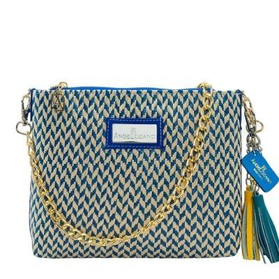 Leather bag Arena R Azul
