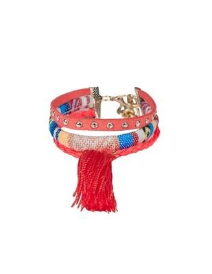 Bracelet Textil 103 Coral
