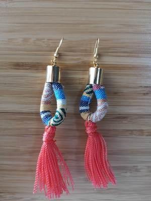 Earrings with Telar Coral