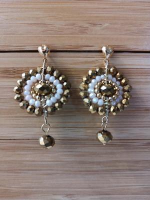 Earrings Crystal 301 Gold