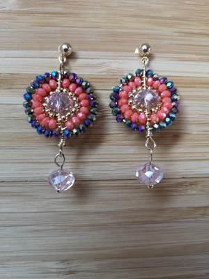 Earrings Crystal 301 Coral